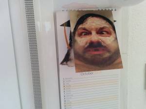 Ricky Gervais Bath Pic Mantelpiecing